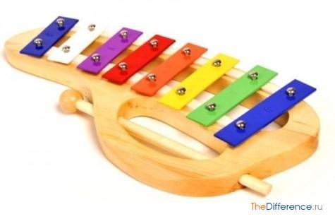 разница между ксилофоном и металлофоном