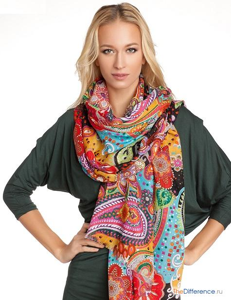 отличие шарфа от палантина