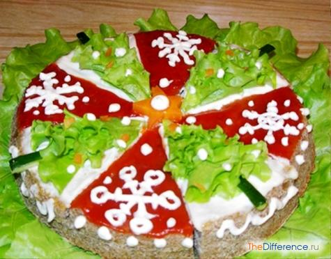 как украсить печеночный торт фото
