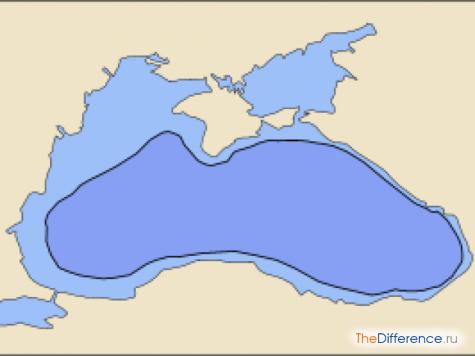 отличие Азовского моря от Черного