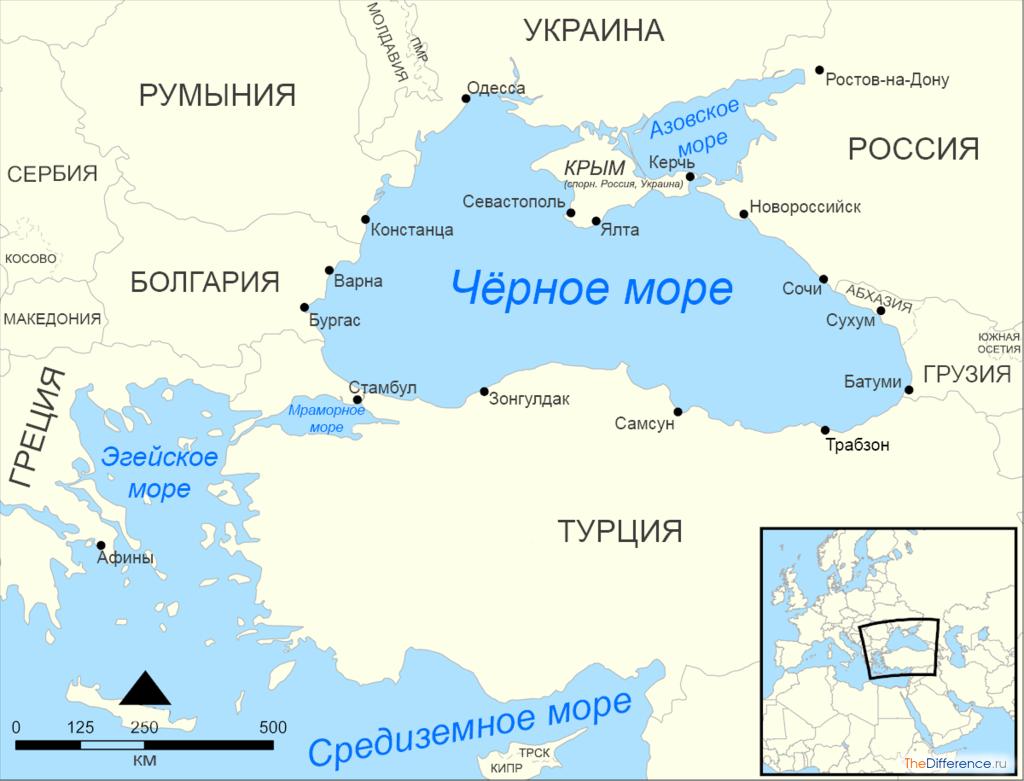 чем отличается Азовское море от Черного