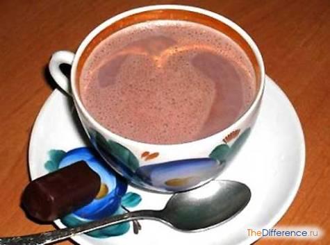 отличие шоколада от какао