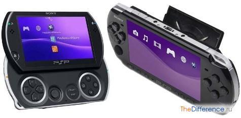 разница между PSP-3000 и PSP go