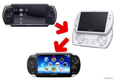 в чем разница между PSP-3000 и PSP go