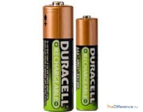 отличие батареек AA от AAA