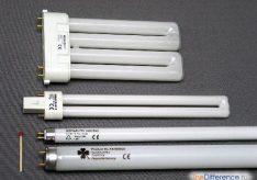 Разница между лампой накаливания и лампой люминесцентной