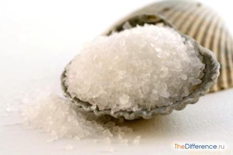 отличие сахара от соли