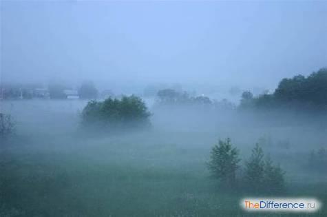 чем отличается туман от облаков