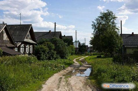 отличие города от деревни