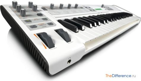 чем отличается миди-клавиатура от синтезатора