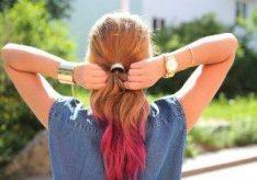 Как правильно покрасить кончики волос?