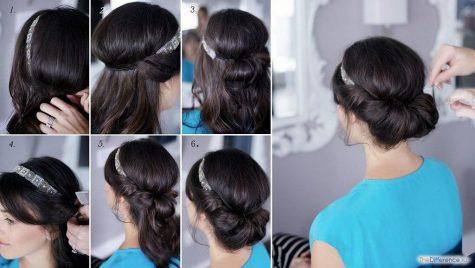 греческую прическу на короткие волосы