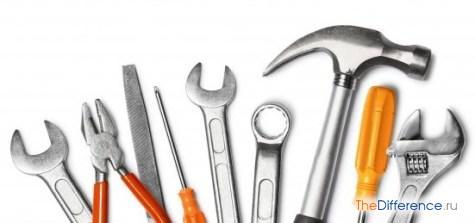 отличие приспособлений от инструментов