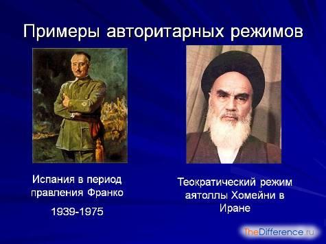 в чем разница между авторитарным режимом и тоталитарным