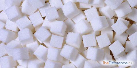 отличие коричневого сахара от белого