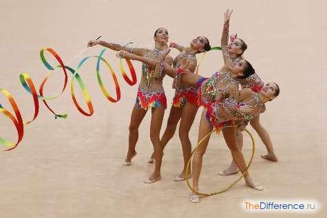 отличие спортивной гимнастики от художественной