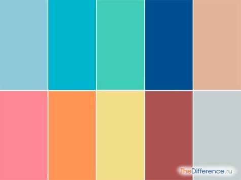 отличие света от цвета