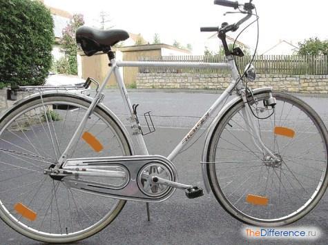 отличие женского велосипеда от мужского