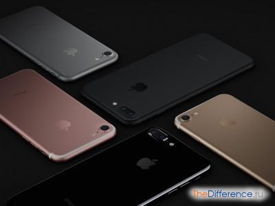 отличие iPhone 7 от iPhone 6s