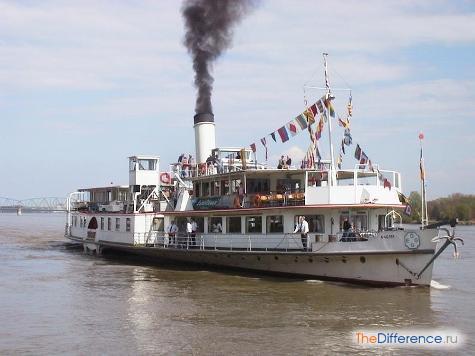Чем отличается пароход от теплохода