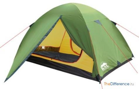 чем отличаются туристические палатки от кемпинговых