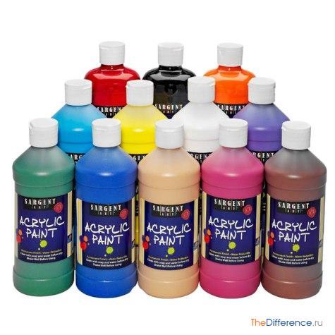 отличие акриловых красок от водоэмульсионных