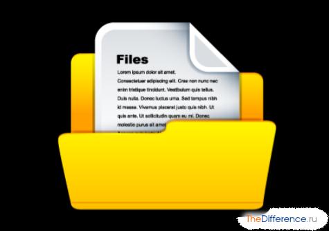 чем отличается файл от каталога
