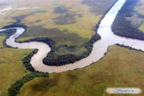 чем отличается река от ее притока