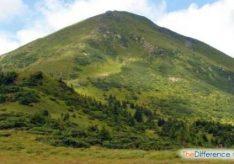Разница между горами и скалами