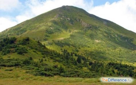 чем отличаются горы от скал