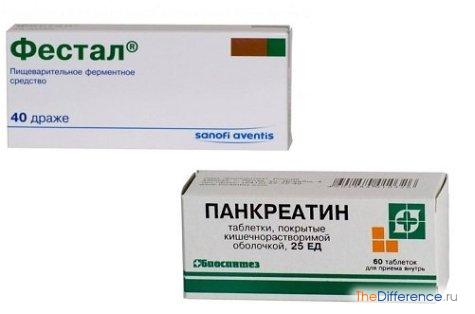 чем отличается «Фестал» от «Панкреатина»