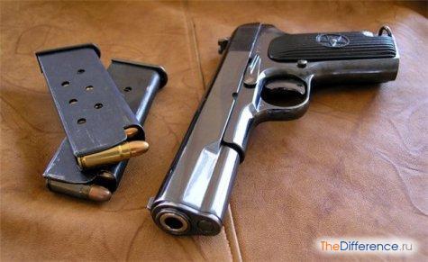 отличие пистолета от револьвера
