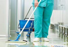 Разница между санитаркой и уборщицей